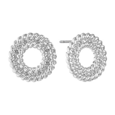 Liz Claiborne 10mm Round Stud Earrings