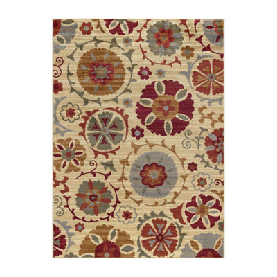 Tayse Suzana Transitional Floral Rug Collection