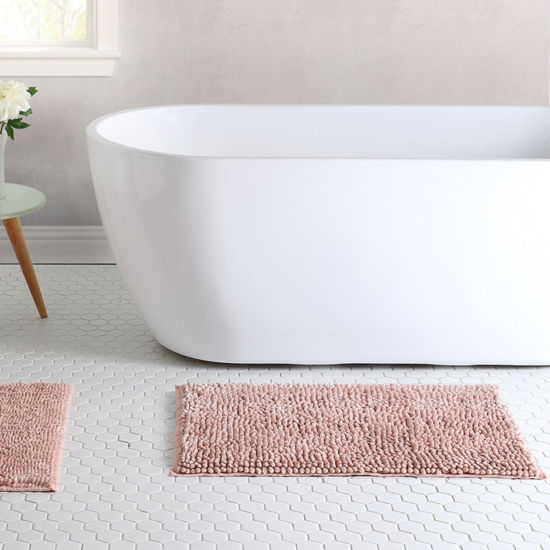 VCNY Pearlized Noodle 2-pack Bath Rug Set