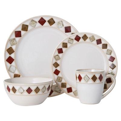 Pfaltzgraff Riveria Diamond 16-pc. Dinnerware Set