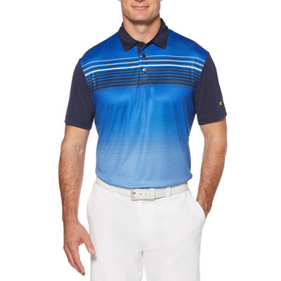 Jack Nicklaus Easy Care Short Sleeve Stripe Polo Shirt