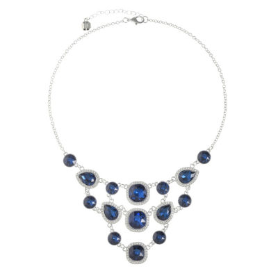 Monet Jewelry Womens Blue Statement Necklace