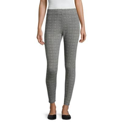 Mixit Knit Plaid Printed Leggings