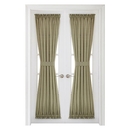 JCPenney Home Supreme Light-Filtering Rod-Pocket Single Door Panel Curtain, One Size , Green