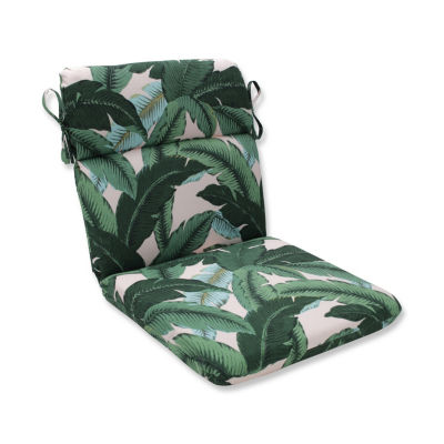Pillow Perfect Swaying Palms Capri Rounded Corners Patio Chair Cushion