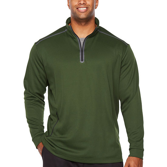 Msx By Michael Strahan Big and Tall Mens High Neck Long Sleeve Quarter-Zip Pullover
