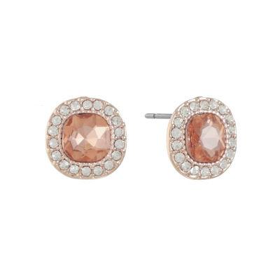 Monet Jewelry Orange 14.3mm Stud Earrings