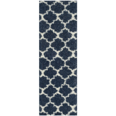 Safavieh Montreal Shag Collection Shelby GeometricRunner Rug