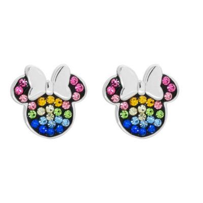 Disney Multi Color Crystal 11.1mm Minnie Mouse Stud Earrings