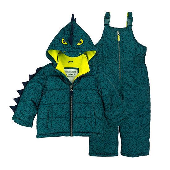 2221362ba8a1 Carter s 2-Pc. Dinosaur Snowsuit Set - Baby Boy - JCPenney