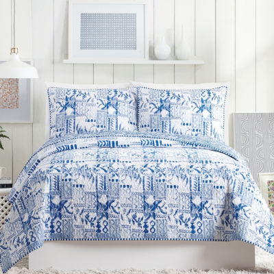Makers Collective Swatch Blue 3-pc. Quilt Set