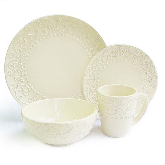 American Atelier Bianca Cream 16-pc. Dinnerware Set