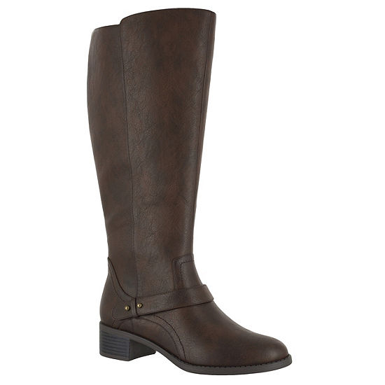 Easy Street Womens Jewel Riding Boots Block Heel