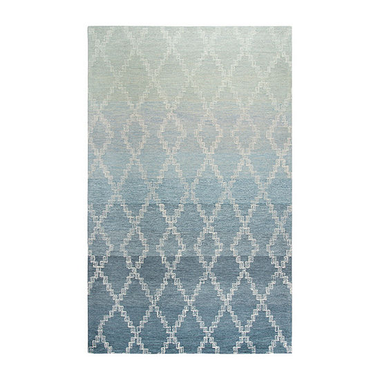 Rizzy Home Dune Collection Barthram Hand-Tufted Ombre/Lattice Area Rug