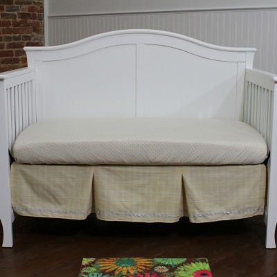 Nurture Basix Tan Organic Giraffe 3 Piece Crib Bedding Set