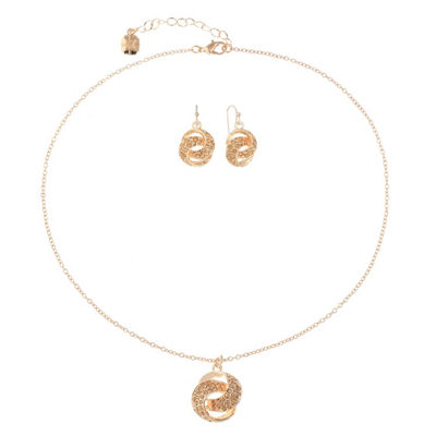 Monet Jewelry Orange Rose Tone 2-pc. Jewelry Set