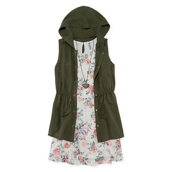 Knit Works 2-pc. Jacket Dress Girls - Big Kid