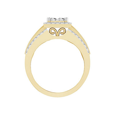 Womens 1 CT. T.W. White Diamond 14K Gold Bridal Set