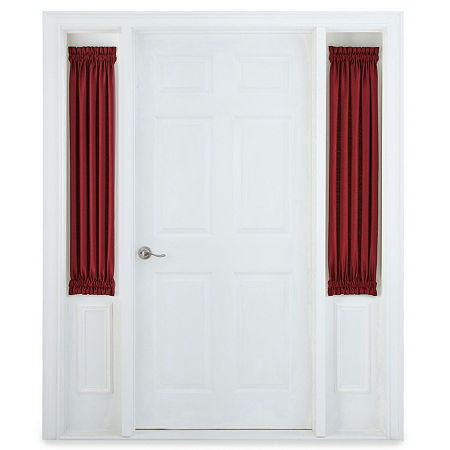 JCPenney Home Supreme Sheer Rod-Pocket Single Sidelight Curtain, One Size , Red