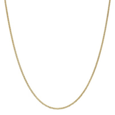 14K Gold 16 Inch Solid Anchor Chain Necklace