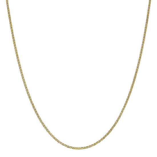 14K Gold 18 Inch Solid Anchor Chain Necklace