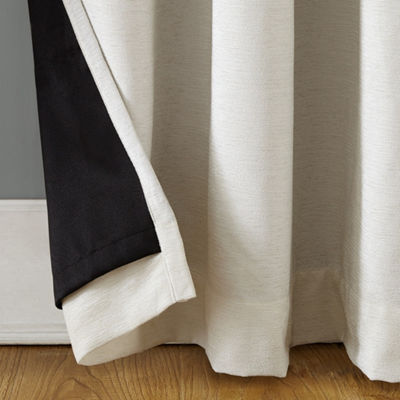 Sun Zero Manor Chenille Velvet Theater Grade Extreme Blackout Grommet Curtain Panel