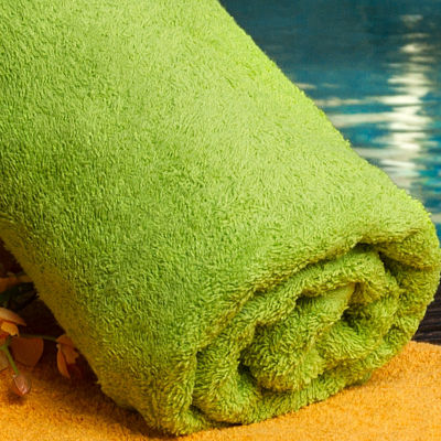 "Splash Green Stripe 30""x60"" Pool Towel 24-pk."