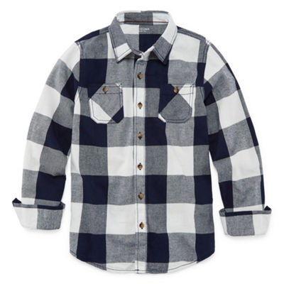 Arizona Boys Long Sleeve Flannel Shirt