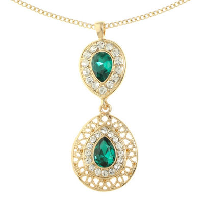 Monet Jewelry Green Gold Tone 2-pc. Jewelry Set