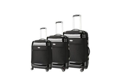 Brio Luggage Hybrid Hardside And Softside Luggage Set #Ae1116