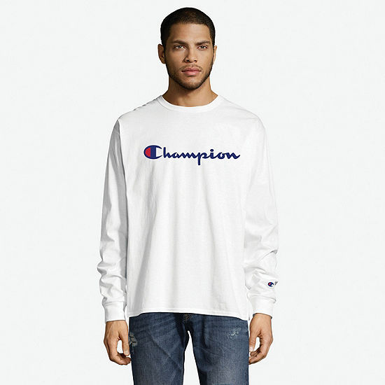 Champion Classic Graphic Mens Crew Neck Long Sleeve T-Shirt