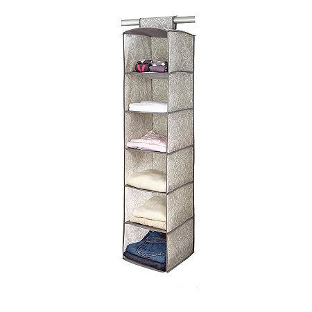 Non-Woven 6 Shelf Organizer-Almeida, One Size , Gray