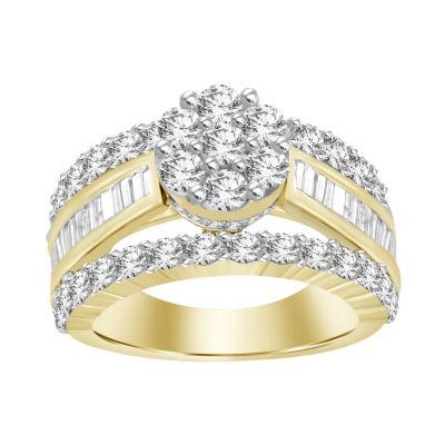 Womens 3 CT. T.W. Diamond White Engagement Ring