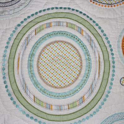 Nurture Circles and Twill Cotton 3 Piece Nursery Bedding Set