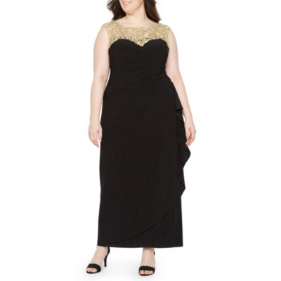 Atelier Danielle Sleeveless Embellished Evening Gown - Plus