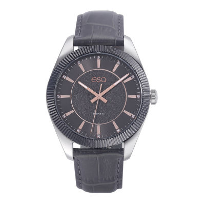Esq Mens Gray Strap Watch-37esq015301a