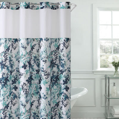 Hookless Water Color Floral Shower Curtain Set