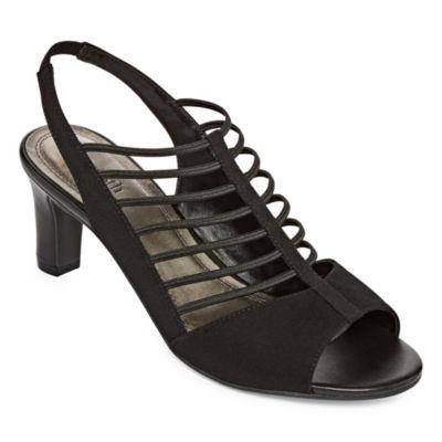 east 5th Womens Neville Pumps Slip-on Open Toe Stiletto Heel
