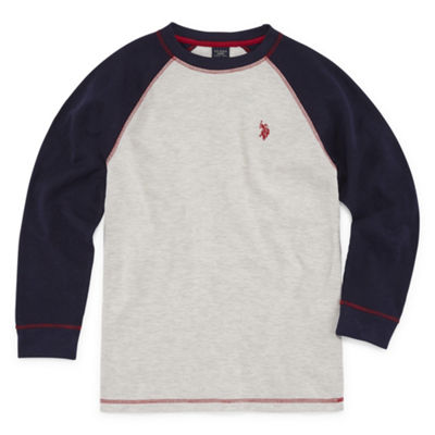 U.S. Polo Assn. Long Sleeve Thermal Top - Big Kid Boys