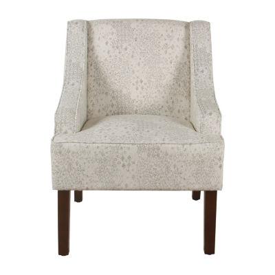 HomePop Classic Swoop Vintage Stencil Arm Accent Chair