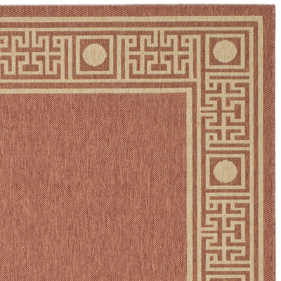 Safavieh Courtyard Collection Cherette Oriental Indoor/Outdoor Area Rug