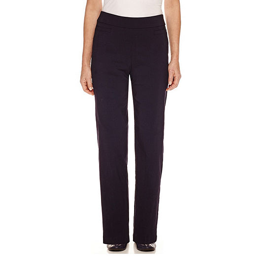 Alfred Dunner Classics Womens Allure Stretch Pant