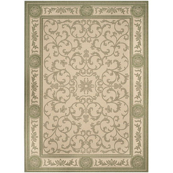 Safavieh Courtyard Collection Miah Floral Indoor Outdoor Area Rug