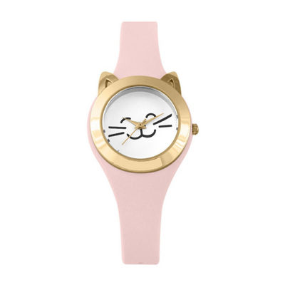 Mixit Cat Womens Pink Strap Watch-Pts2942cglp