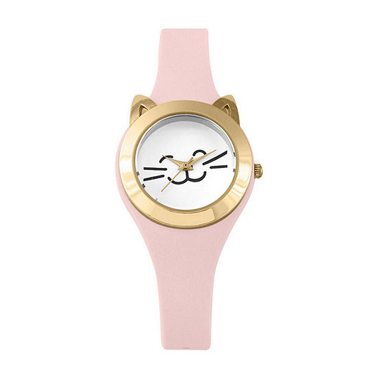 Mixit Cat Womens Digital Pink Strap Watch-Pts2942cglp