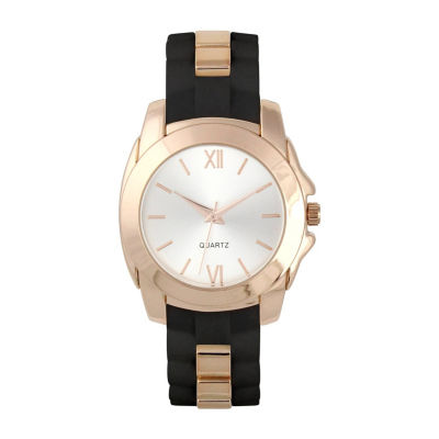 Mixit Womens Black Strap Watch-Pt5472bkrg