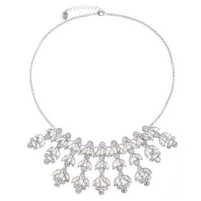 Monet Jewelry Womens Clear Statement Necklace