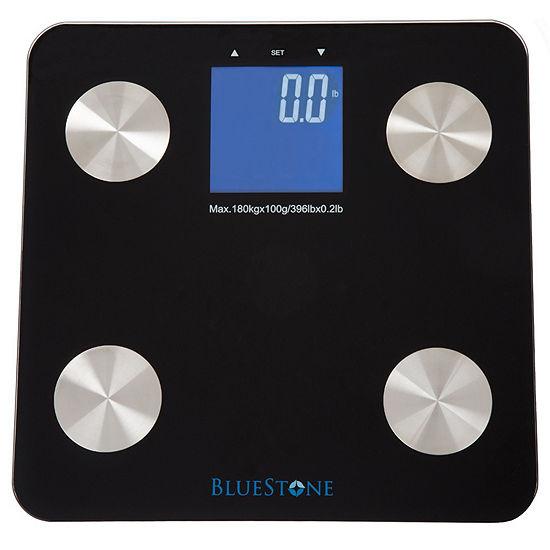 Bluestone Digital Body Fat Scale with Large LCD Display - Black