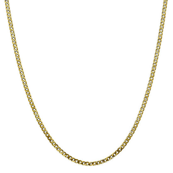10k Gold Solid Curb Chain Necklace