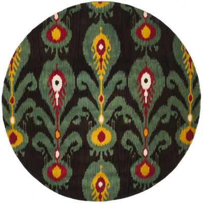 Safavieh Ikat Collection Hollie Floral Round AreaRug